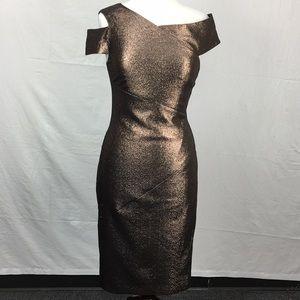 Ted Baker Brown Maggz Sparkle Midi Bodycon Dress